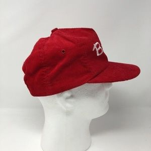 cd5fd04f12f Erie Brand Accessories - Vintage Bob Evans Corduroy Red Trucker Snapback